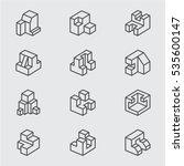 basic isometric line icon | Shutterstock .eps vector #535600147