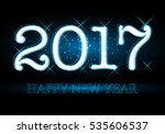 happy new year 2017 colorful... | Shutterstock .eps vector #535606537