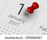 close up of january 2017 on... | Shutterstock . vector #535606567