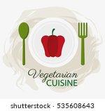 red pepper vegetarian cuisine... | Shutterstock .eps vector #535608643