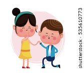 couple love proposal happy | Shutterstock .eps vector #535610773