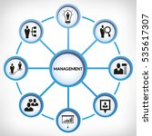 management icons in circle... | Shutterstock .eps vector #535617307