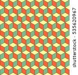 seamless 3d cube pattern....   Shutterstock .eps vector #535620967