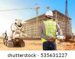 engineer control working at... | Shutterstock . vector #535631227