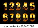vector golden numbers. set of... | Shutterstock .eps vector #535631887
