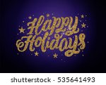 happy holidays. christmas... | Shutterstock .eps vector #535641493