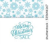 merry christmas sale background.... | Shutterstock .eps vector #535646167