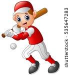 vector illustration of cartoon... | Shutterstock .eps vector #535647283