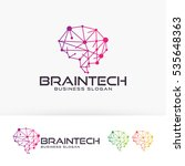 brain tech  vector logo template | Shutterstock .eps vector #535648363
