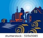 Vector Illustration Of A Farme...