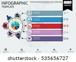 businessman brainstorming... | Shutterstock .eps vector #535656727