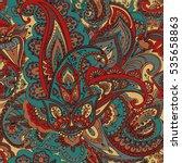 "seamless pattern of ""paisley""... | Shutterstock .eps vector #535658863"