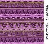 ethnic seamless pattern. tribal ... | Shutterstock . vector #535665037