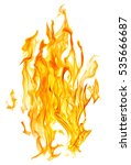 yellow flame isolated on white... | Shutterstock . vector #535666687