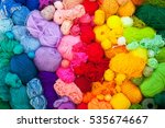 Colored Balls Of Yarn. View...