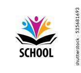 open book logo | Shutterstock .eps vector #535681693