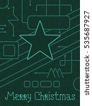 merry christmas holiday... | Shutterstock .eps vector #535687927