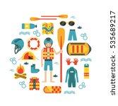 vector illustration with... | Shutterstock .eps vector #535689217