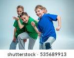 the kids dance school  ballet ... | Shutterstock . vector #535689913