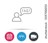 faq service icon. support... | Shutterstock .eps vector #535700053