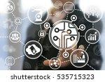 industrial microchip cpu... | Shutterstock . vector #535715323
