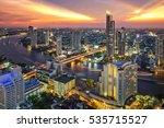 bangkok city at sunset  taksin... | Shutterstock . vector #535715527