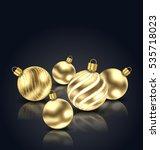 illustration christmas golden... | Shutterstock .eps vector #535718023