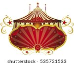 circus red frame. a circus sign ... | Shutterstock .eps vector #535721533