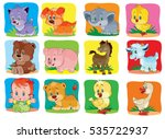a set of children's icons | Shutterstock .eps vector #535722937
