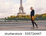 young beautiful woman full body ... | Shutterstock . vector #535726447