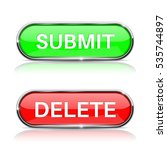 submit and delete active... | Shutterstock .eps vector #535744897