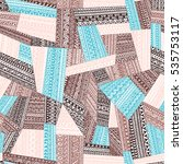 seamless pattern of patchwork.... | Shutterstock .eps vector #535753117