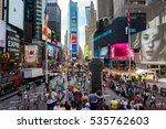 new york  ny  august 28  2016 ... | Shutterstock . vector #535762603