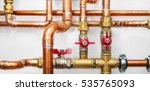 copper valves and pipes on a...   Shutterstock . vector #535765093
