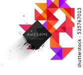 geometric background template... | Shutterstock .eps vector #535767013