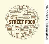 street food minimal thin line... | Shutterstock .eps vector #535770787
