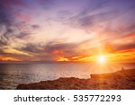beautiful colorful sunset at... | Shutterstock . vector #535772293