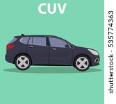 car cuv crossover vehicle... | Shutterstock .eps vector #535774363