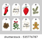 gift tags set. vector hand... | Shutterstock .eps vector #535776787