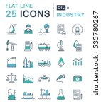 set  line icons in flat design... | Shutterstock . vector #535780267