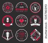 set of logos rock music and... | Shutterstock . vector #535780393