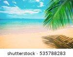 beautiful sunny beach. view of... | Shutterstock . vector #535788283