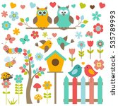 vector set of nature themed and ... | Shutterstock .eps vector #535789993