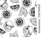 vector seamless pattern of... | Shutterstock .eps vector #535794637