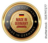 made in germany badge | Shutterstock .eps vector #535797277