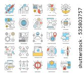flat color line icons 8 | Shutterstock .eps vector #535803757