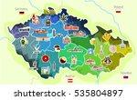 map of czech republic with... | Shutterstock .eps vector #535804897