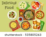 breakfast food icon with... | Shutterstock .eps vector #535805263