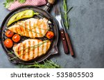 grilled chicken fillets  chili... | Shutterstock . vector #535805503