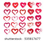 painted hearts from grunge... | Shutterstock .eps vector #535817677